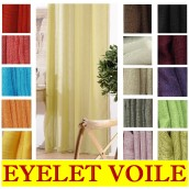Linen Look Eyelet Ring Top Voile Curtains €13.95