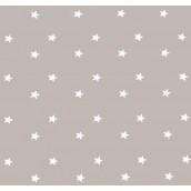 Beige Grey Stars Oilcloths PVC Tablecloths