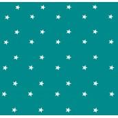 Teal Stars Oilcloths PVC Tablecloths